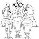 Coloring ebook for kids - icecreams