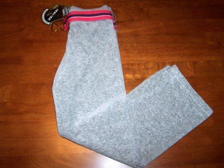 Juicy Couture Little Girls Velour Pants & Belt Size 12