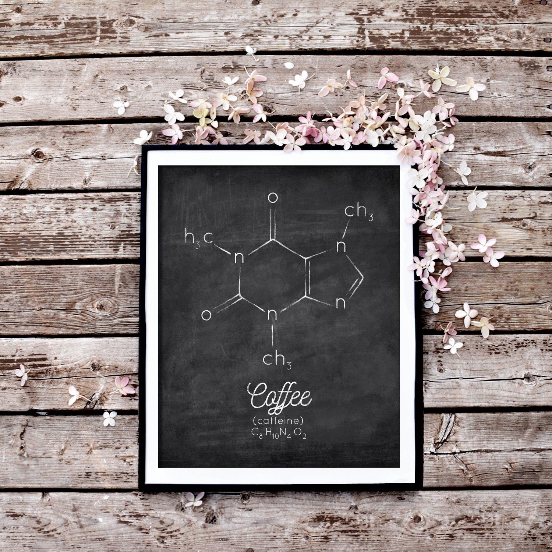 Distressed Coffee Chalkboard Printable Wall Art