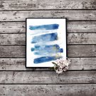 Abstract Gold and Blue Watercolour Printable Wall Art