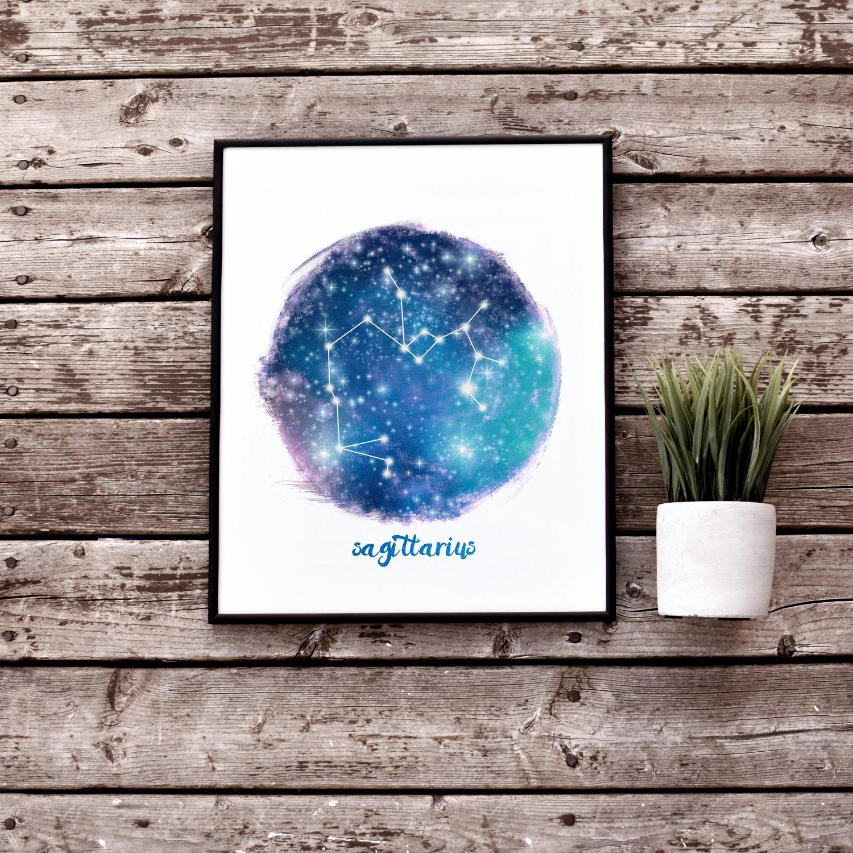 Sagittarius Star Sign Printable Wall Art