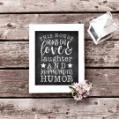 This House Runs On Funny Quote Printable Wall Art