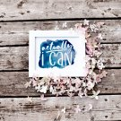 Actually I Can Blue Watercolour Printable Wall art