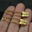 Chrome Hearts pin retro locomotive style rock Gold Plated pin S925 Sterling Silver HandMade