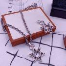 Chrome Hearts cross Roman letters hexagram necklace S925 Sterling Silver pendant necklace