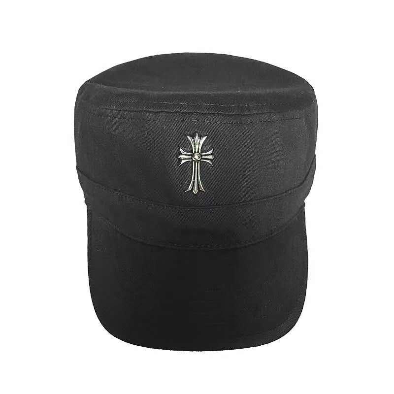 Chrome Hearts Cross cap vintage sun hat, Roman letter baseball cap, rock and roll trucker hat