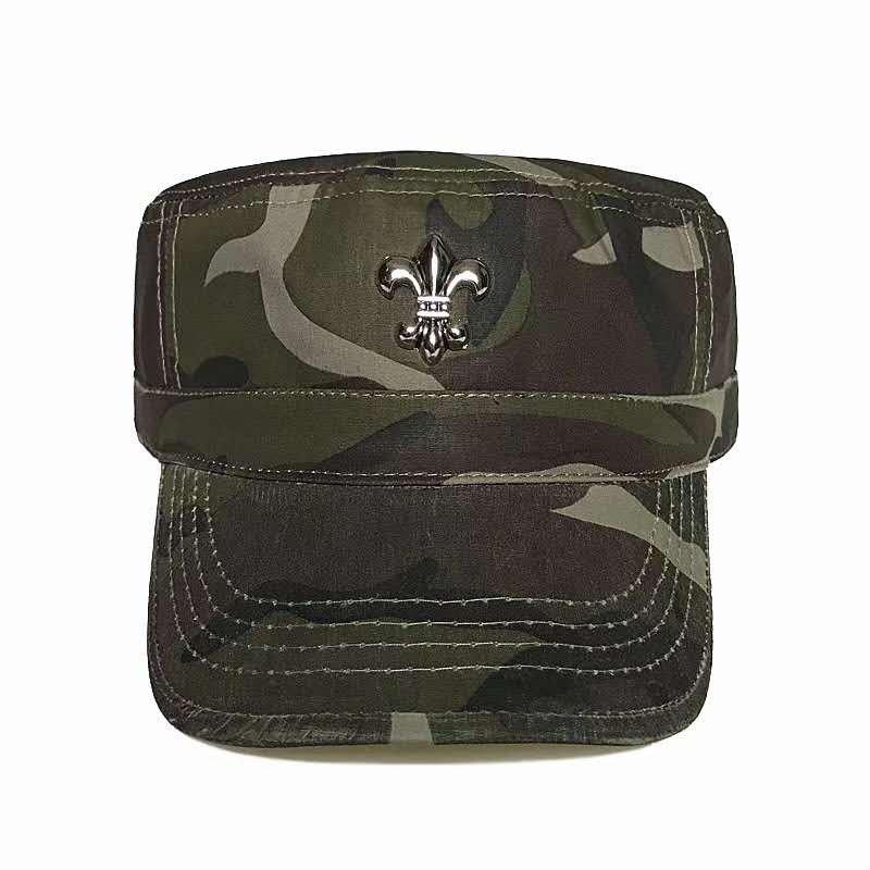 Chrome Hearts Scout flower camouflage army hat, retro sun hat, Roman letter baseball cap