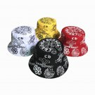 Chrome Hearts Embroidery printing outdoor couple sun hat CH fisherman's hat