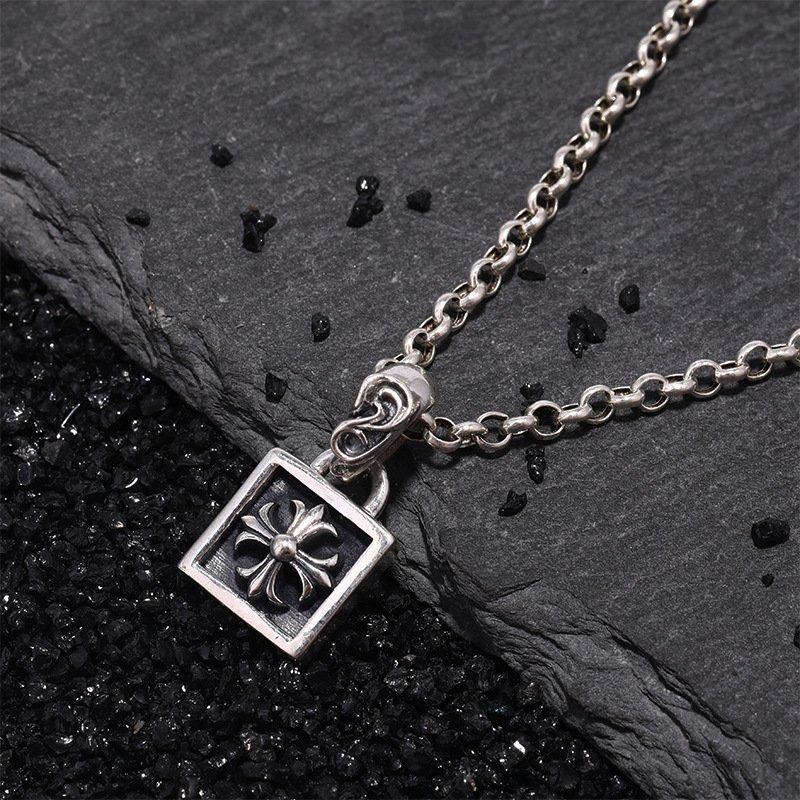 Chrome Hearts Anchor Cross Pendant S925 Sterling Silver rock handmade Pendant
