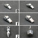 Chrome Hearts Cross Whistle Dice Pendant S925 Sterling Silver rock handmade Bullet Pendant