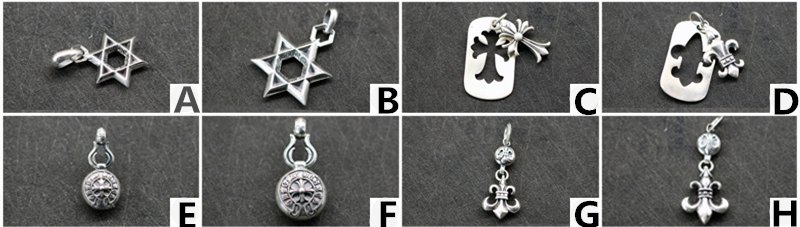 Chrome Hearts Cross anchor Pendant S925 Sterling Silver rock handmade Pendant