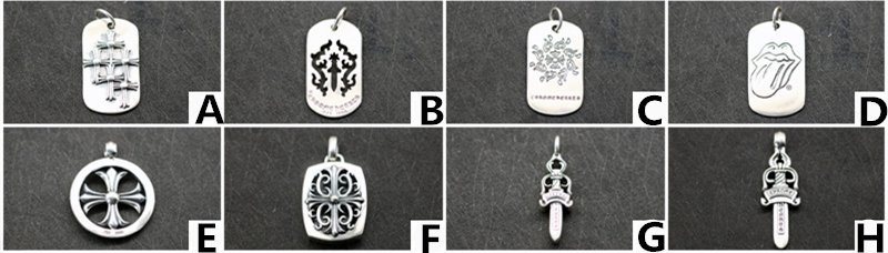 Chrome Hearts Cross Dagger Pendant S925 Sterling Silver rock handmade Dog Tag Pendant