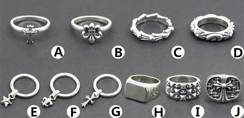 Chrome Hearts cross ring S925 Sterling Silver rock Retro dagger ring handmade ring