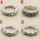 Chrome Hearts Eternity Vine ring S925 Sterling Silver rock Retro cross handmade ring