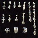Chrome Hearts cross dagger Earring,S925 sterling silver handmade earring