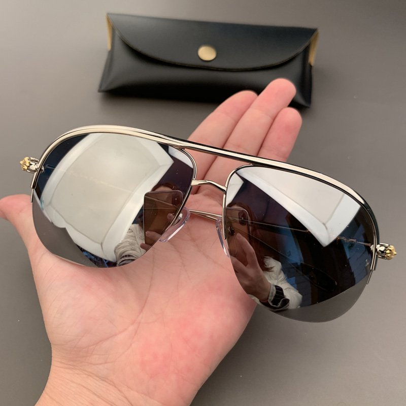 Chrome Hearts Sunglasses new half-frame toad mirror inside coated sunglasses