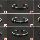 Chrome Hearts Cross Roman alphabet Bracelet S925 Sterling Silver rock Hip hop Handmade Bracelet