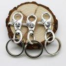 Chrome Hearts Key buckle S925 Sterling Silver rock handmade cross  Key buckle