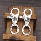 Chrome Hearts cross Heart Key buckle S925 Sterling Silver handmade Key buckle