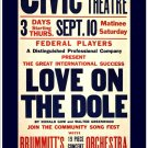 Love On The Dole, 1936 - Art Print Taken From A Vintage Concert / Theatre Poster