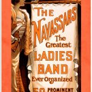 The Navassars Ladies Band, 1902 - Art Print Taken From A Vintage Concert / Theatre Poster