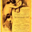 Charity Concert, Legionnaires, 1916.  Art Print Taken From A Vintage Concert / Theatre Poster