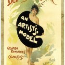 An Artist's Model, Daly's Theatre.  Art Print Taken From A Vintage Concert / Theatre Poster