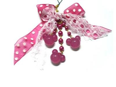 Pink Cell Phone Chain