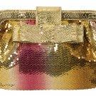 FUCHSIA-GOLD SEQUIN HANDBAG