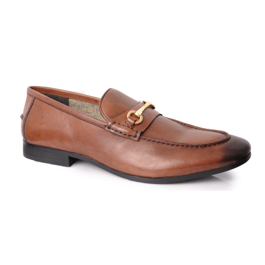 Silver Street London Men's Leather Trim Loafer I Richmond Brown (UK SIZES 7-12)