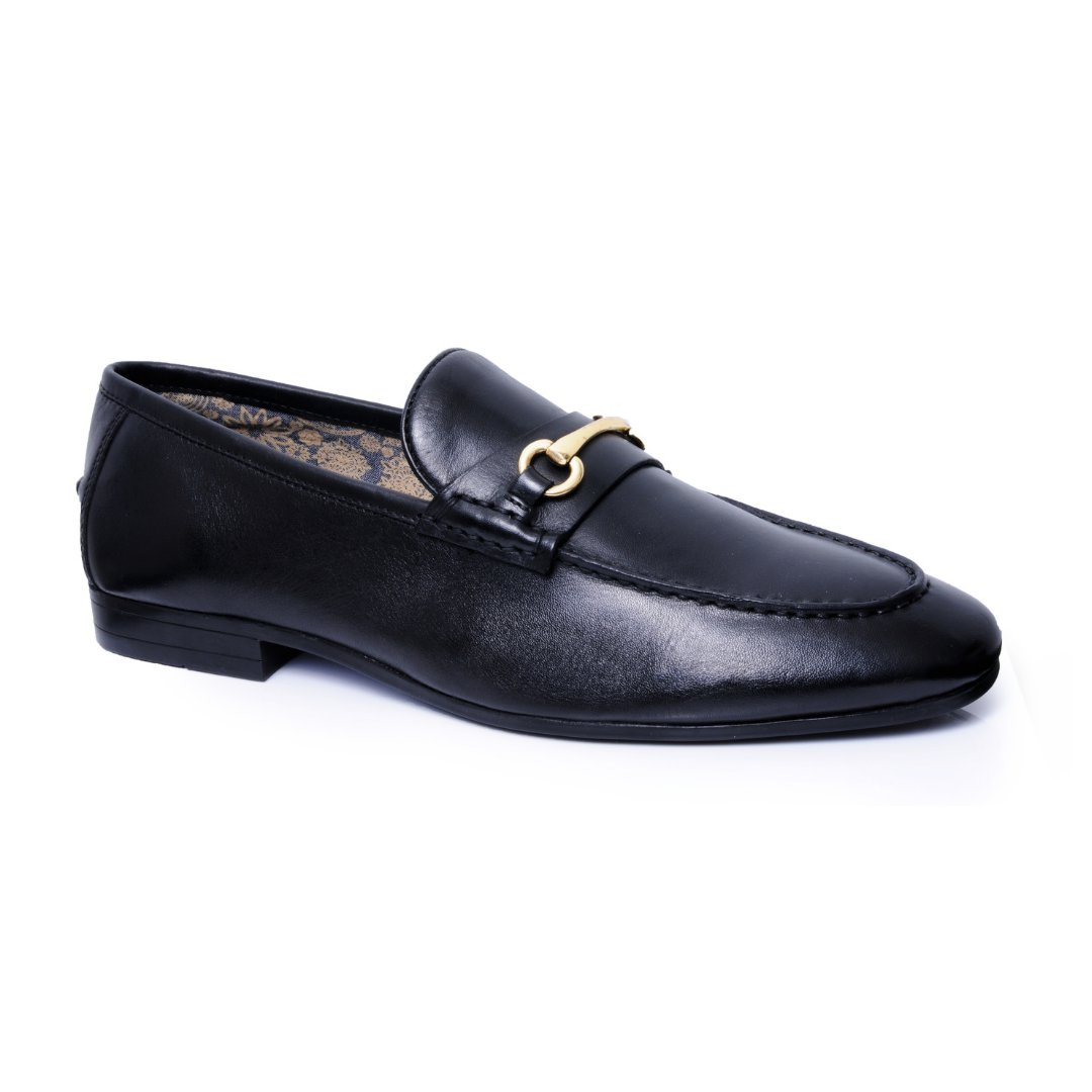Silver Street London Men's Leather Trim Loafer I Richmond Black (UK SIZES 7-12)