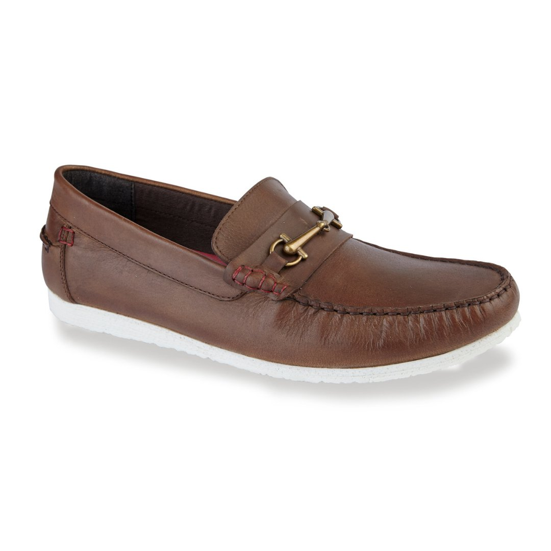 Silver Street London Men's Leather Trim Loafer I Kenton Brown (UK SIZES 7-12)