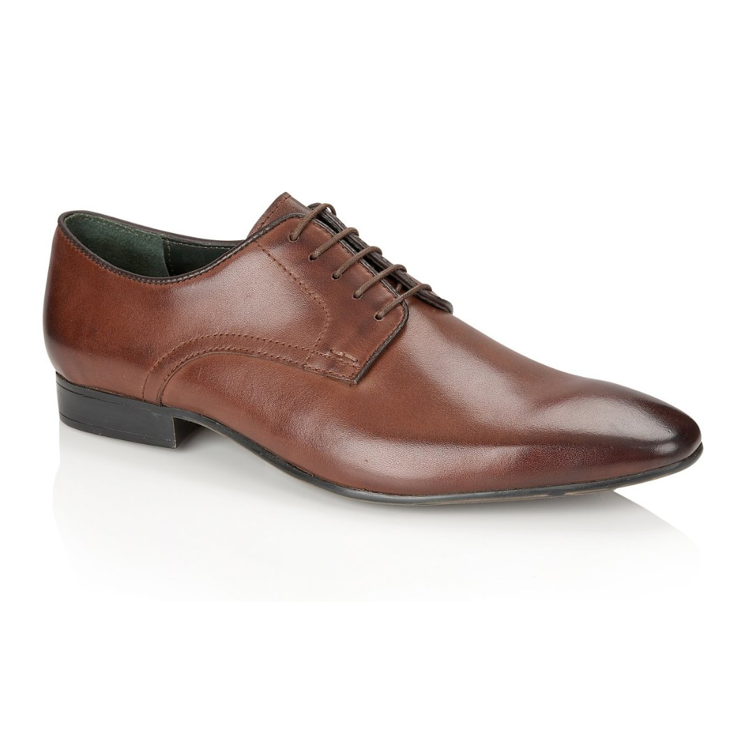 Silver Street London Men's Leather Formal Derby Shoe I Baker Brown (UK SIZES 7-12)