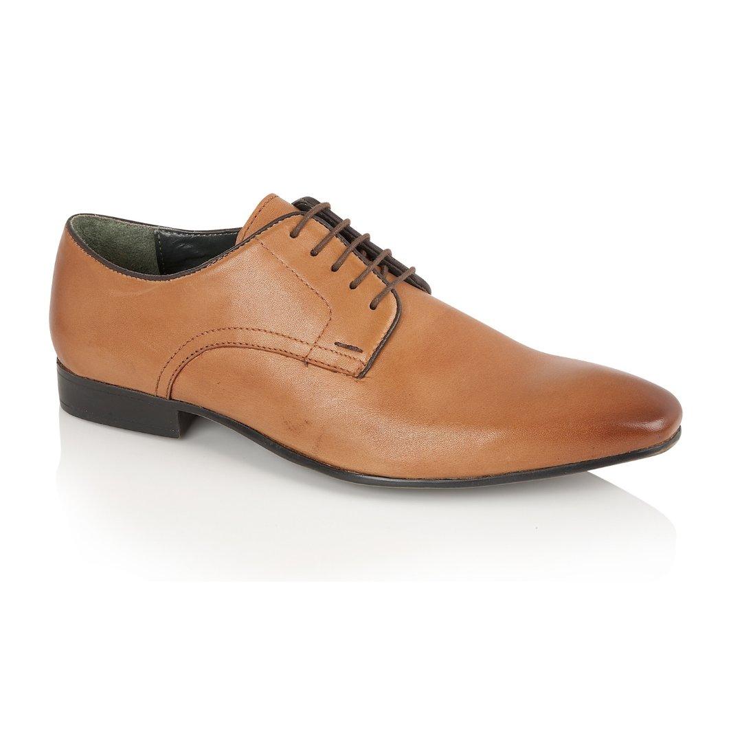 Silver Street London Men's Leather Formal Derby Shoe I Baker Tan (UK SIZES 7-12)