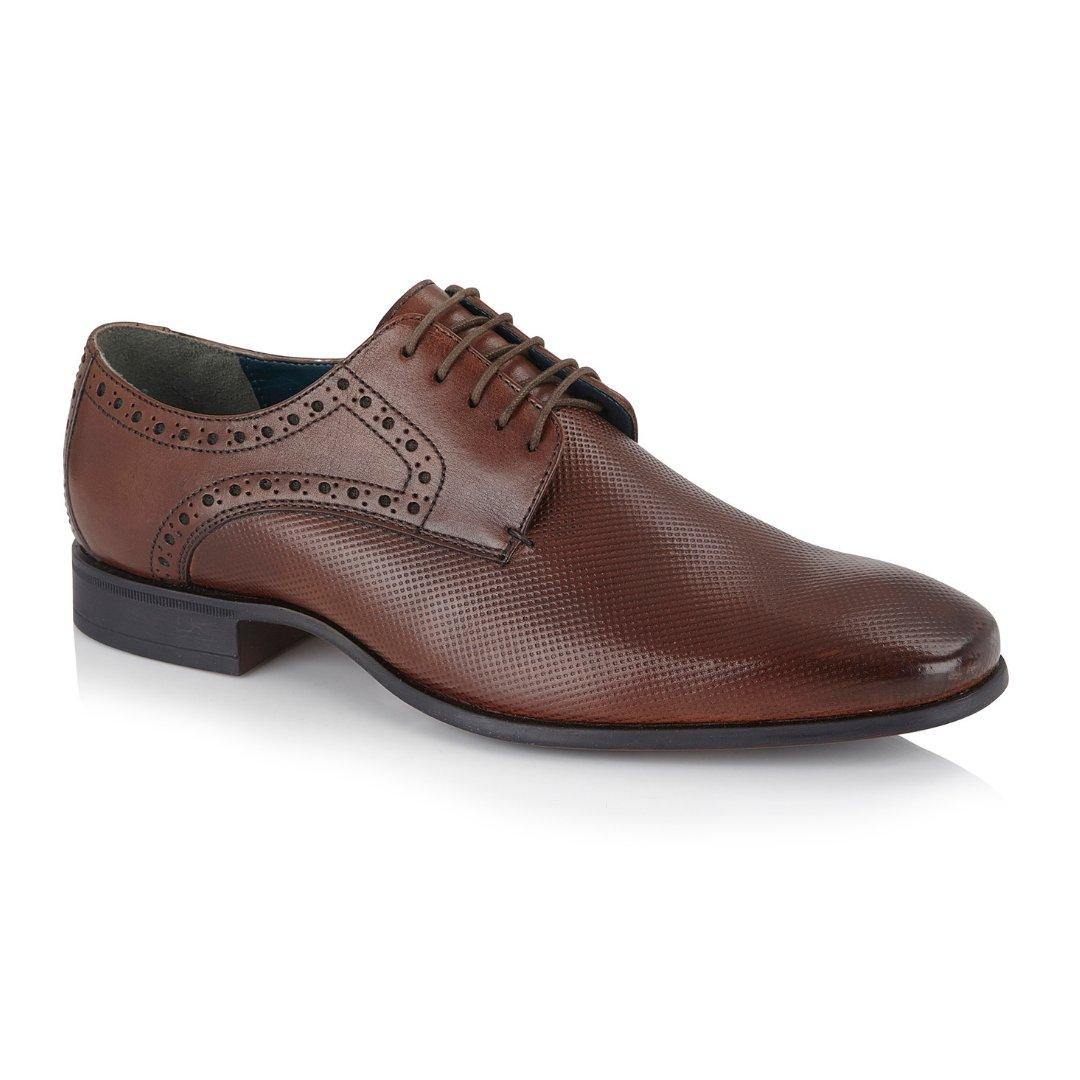 Silver Street London Men's Leather Formal Derby Shoe I Sutton Brown (UK SIZES 7-12)