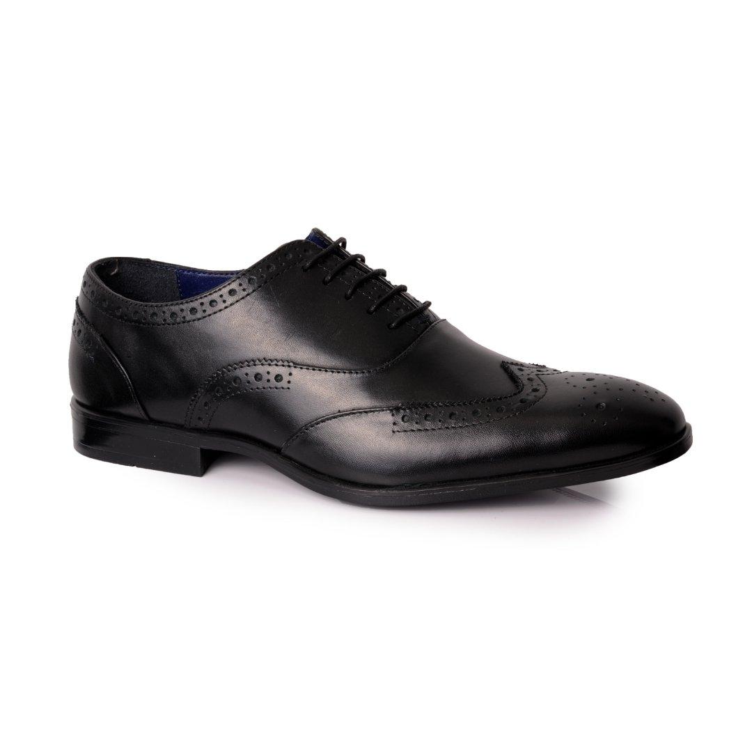 Silver Street London Men's Leather Formal Brogue Oxford I Oxford Black (UK SIZES 7-12)