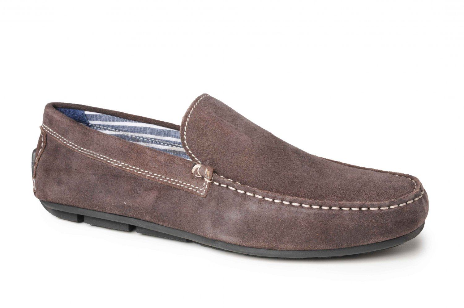 Catesby Men's Suede Leather Moccasin Driving Penny Loafers I Dark Beige