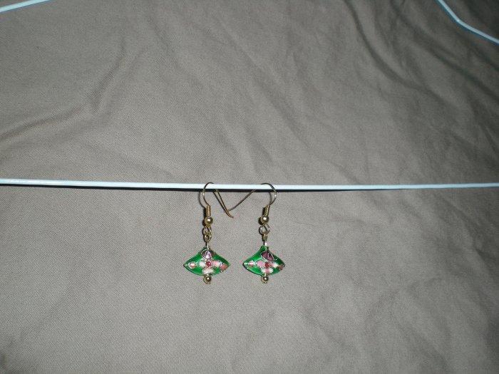 Asian fan earrings