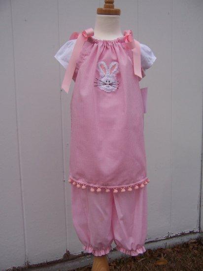 Boutique Easter Bunny Face Pillowcase Dress
