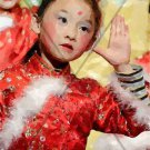 Chinese Children Dancing Abstract Digital Artwork