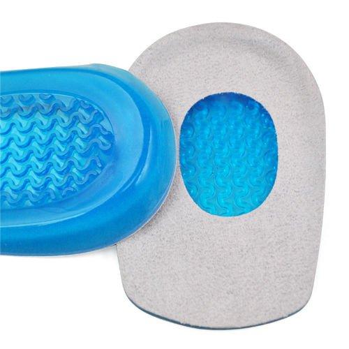 Heel Pain Gel Plantar Fasciitis Heel Cushion Support Pad for Men's Shoes
