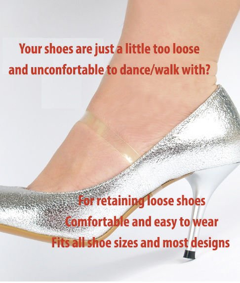 Clear Shoe Straps For Holding Loose Shoes High Heels Dancing