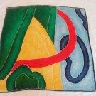 Vintage silk scarf multicolor