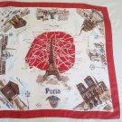 vintage  scarf with Paris theme LYDIA PARIS