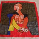 vintage silk scarf with Picasso theme