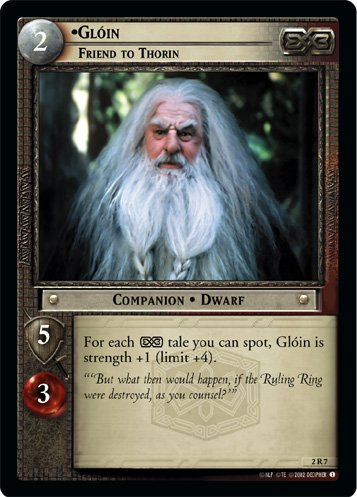 2R7 - Gloin, Friend to Thorin