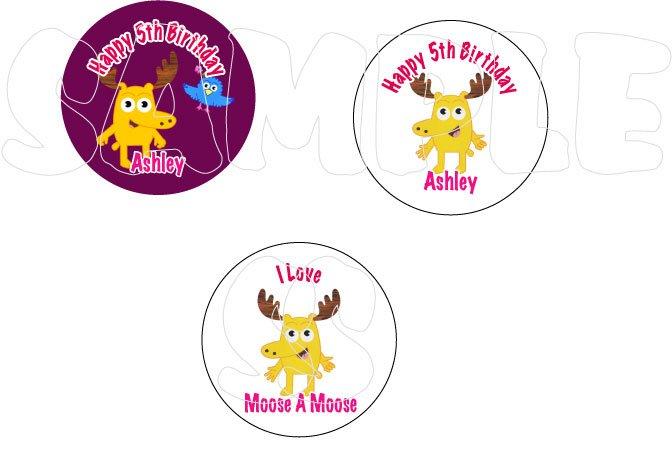 Noggin Moose A Moose Personalized Birthday Button