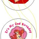 Little Mermaid Personalized Birthday Button