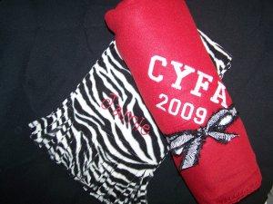 Personalized fleece blanket