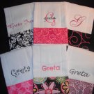 Set of 6 Monogrammed Personalized Burp Cloth Rag Baby Gift